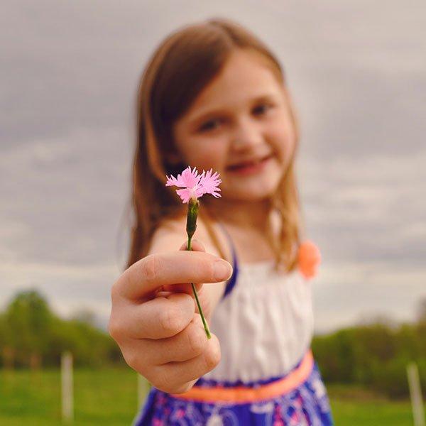 Pediatrics Girl with Flower